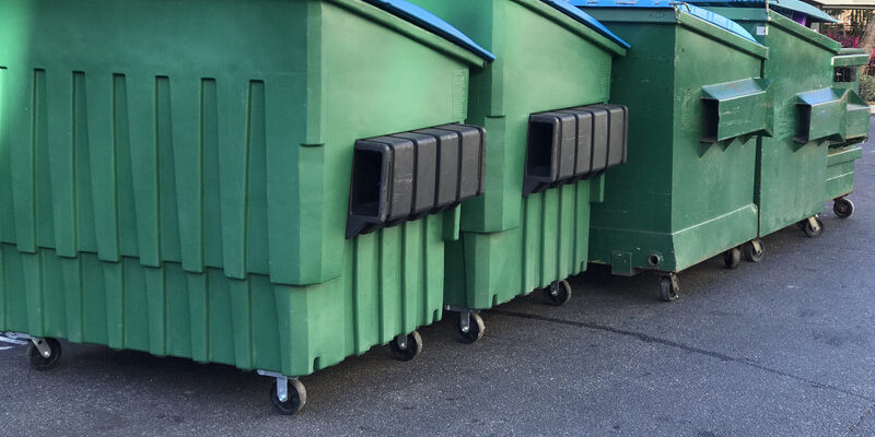 dumpsters of different size